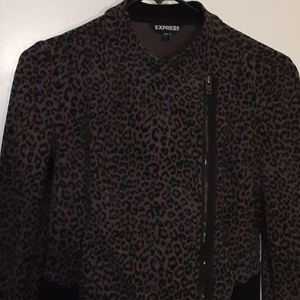 Express leopard jacket